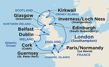 British Isles Map Itinerary