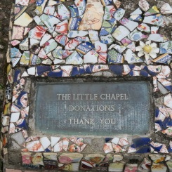 Little Chaple - made of broken china pieces